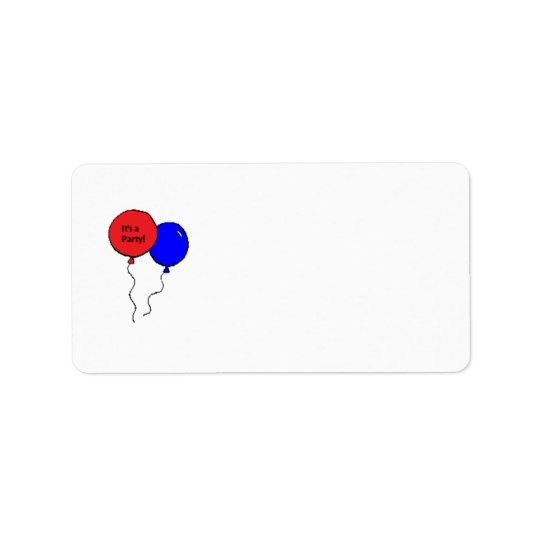 """It's a party!"" address labels"