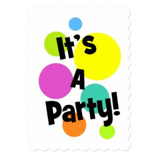 It's A Party Gumballs 13 Cm X 18 Cm Invitation Card