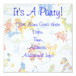 IT'S A PARTY 5.25X5.25 SQUARE PAPER INVITATION CARD