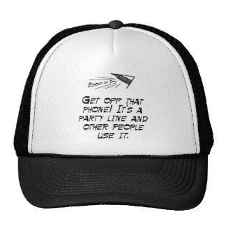 It's a party line! hats
