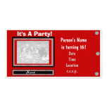 It's A Party Photo Invitation Template Personalised Photo Card