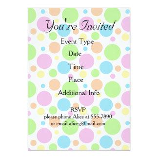 "It's a Party Polka Dot Pattern 5"" X 7"" Invitation Card"