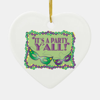 It's A Party Y'All! Ceramic Heart Decoration
