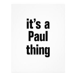 """its a paul thing 8.5"""" x 11"""" flyer"""