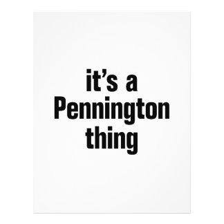 "its a pennington thing 8.5"" x 11"" flyer"
