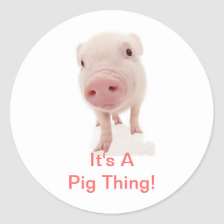 It's A Pig Thing Round Sticker