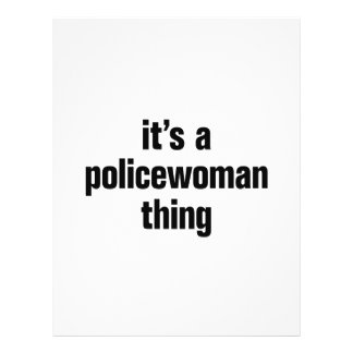 """its a policewoman thing 8.5"""" x 11"""" flyer"""