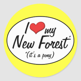 It's a Pony! I Love My New Forest Round Stickers