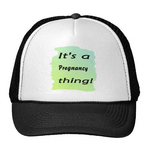It's a pregnancy thing! trucker hat