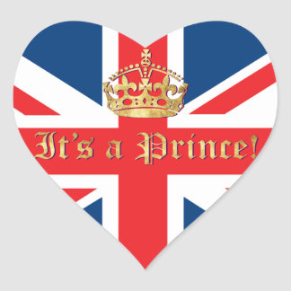 It's a Prince! Heart Stickers