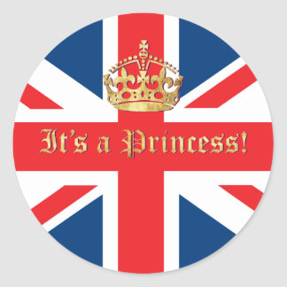 It's a Princess! Round Sticker