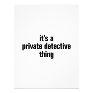 its a private detective thing 21.5 cm x 28 cm flyer