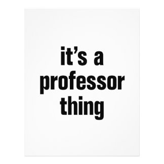 its a professor thing 21.5 cm x 28 cm flyer
