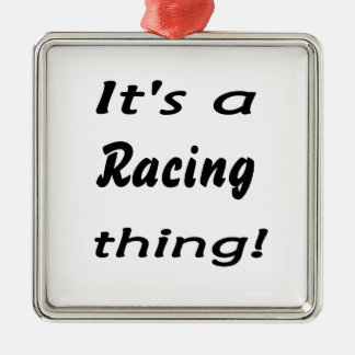 It's a racing  thing! Silver-Colored square decoration