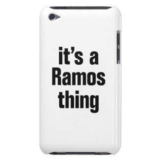 its a ramos thing iPod touch case