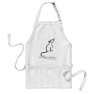 It's a Rat's World Apron