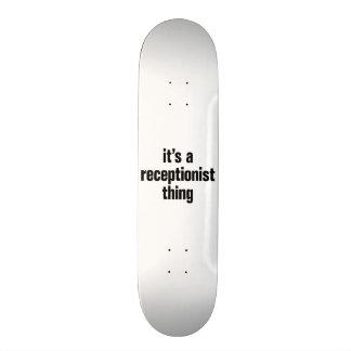 its a receptionist thing 21.6 cm skateboard deck