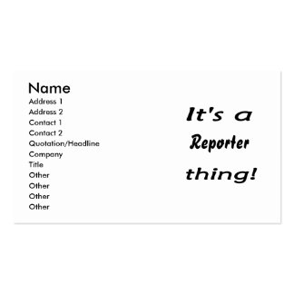It's a reporter thing! business card templates