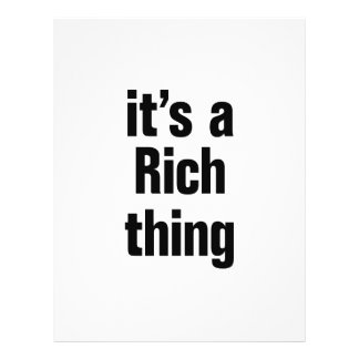 """its a rich thing 8.5"""" x 11"""" flyer"""