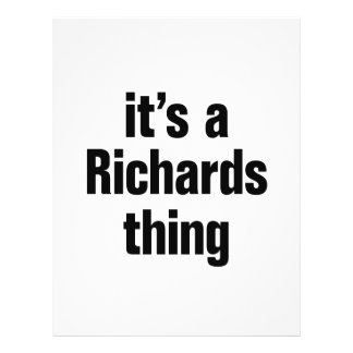 its a richards thing 21.5 cm x 28 cm flyer