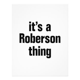 its a roberson thing 21.5 cm x 28 cm flyer