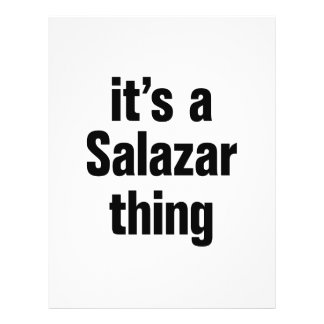 """its a salazar thing 8.5"""" x 11"""" flyer"""