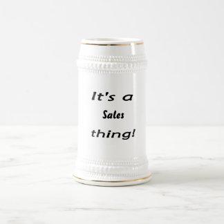 It's a sales thing! coffee mug