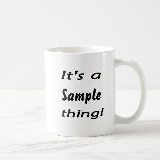 It's a sample thing! basic white mug