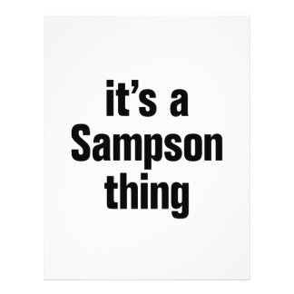 """its a sampson thing 8.5"""" x 11"""" flyer"""