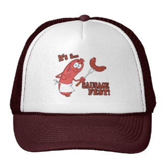 Its a Sausage Fest Funny Sausage Cooking Cartoon Cap