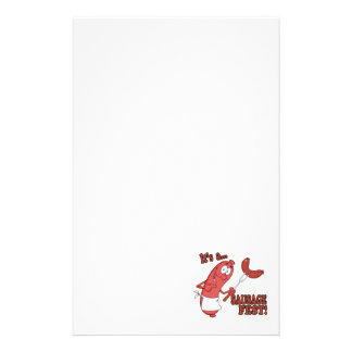 Its a Sausage Fest Funny Sausage Cooking Cartoon Personalized Stationery