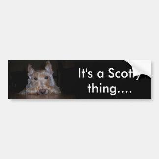 It's a Scotty thing... Bumper Sticker