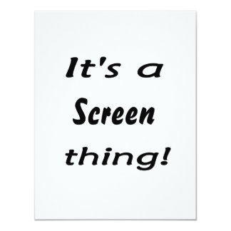 It's a screen thing! invite