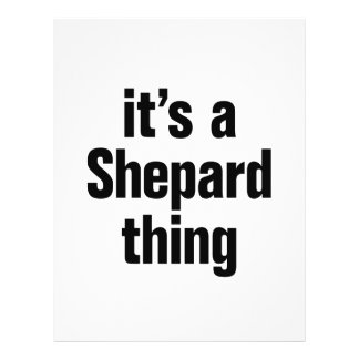 its a shepard thing 21.5 cm x 28 cm flyer