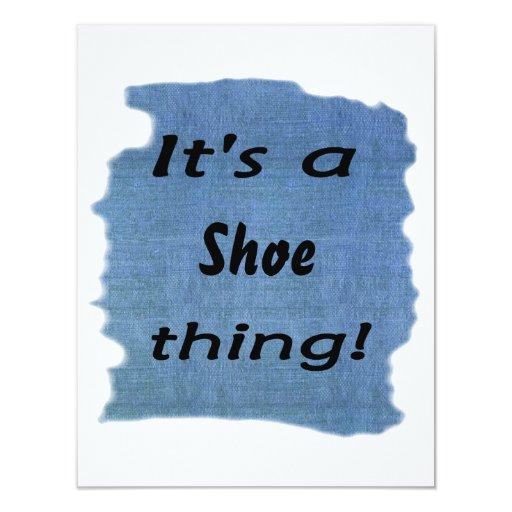 It's a shoe thing! 11 cm x 14 cm invitation card