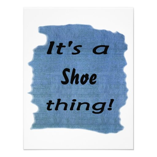 It's a shoe thing! personalised invitation