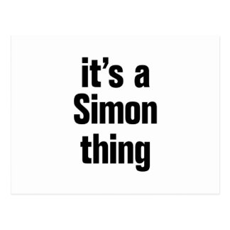 its a simon thing postcard