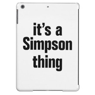 its a simpson thing iPad air cover