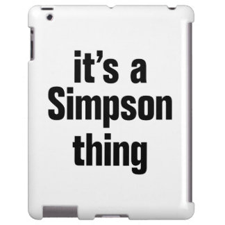 its a simpson thing iPad case