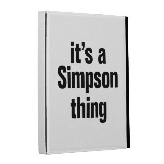 its a simpson thing iPad cases