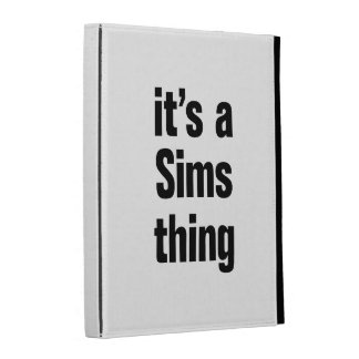its a sims thing iPad folio covers