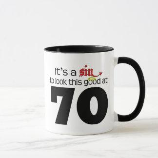 It's A Sin to Look This Good at 70 Mug