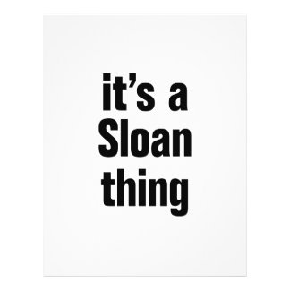 its a sloan thing 21.5 cm x 28 cm flyer
