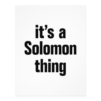 its a solomon thing 21.5 cm x 28 cm flyer