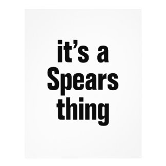 its a spears thing 21.5 cm x 28 cm flyer