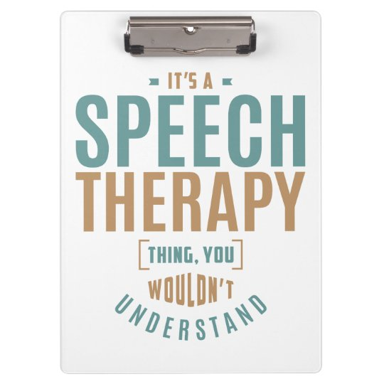 It's a Speech Therapy Thing. Gift Ideas Clipboard