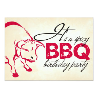 It's a spicy birthday party invitation