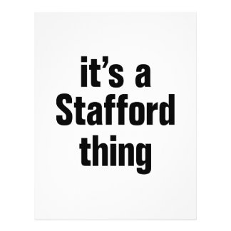 """its a stafford thing 8.5"""" x 11"""" flyer"""