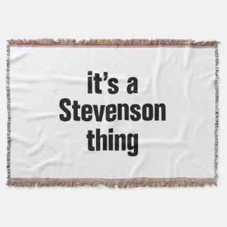 its a stevenson thing