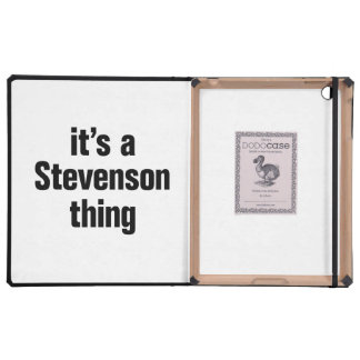its a stevenson thing iPad case